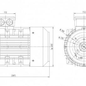 Motor electric trifazat 1.5kw 750rpm 112 B14