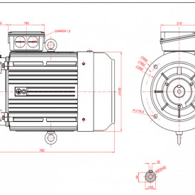 Motor electric trifazat 200kw 1400rpm 315 B5