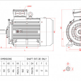Motor electric trifazat 22kw 1400rpm 160 B3
