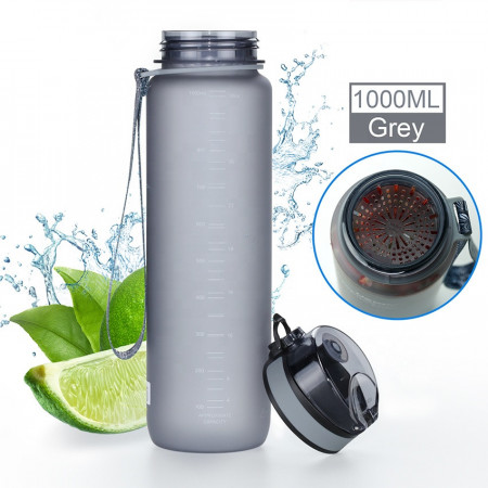Sticla apa Uzspace Tritan, fara BPA cu capac 650ml roz