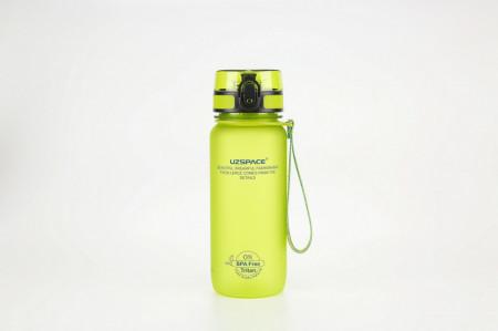 Sticla apa Uzspace Tritan, fara BPA cu capac 650ml verde