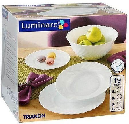 Serviciu de masa Luminarc Trianon ,19 piese, alb