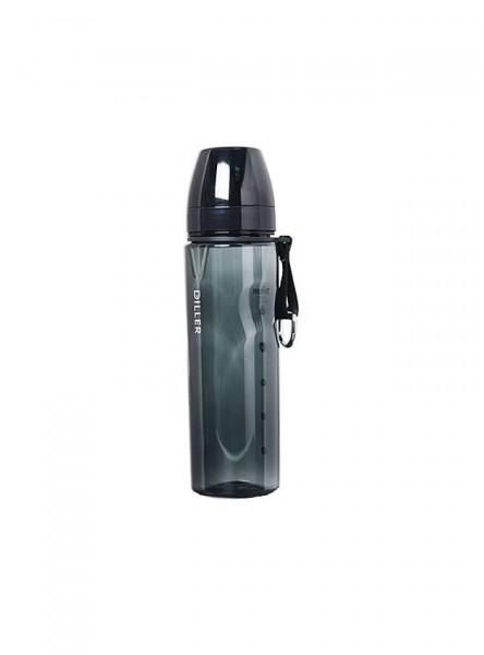 Sticla apa Tritan, fara BPA cu capac 700ml negru Diller