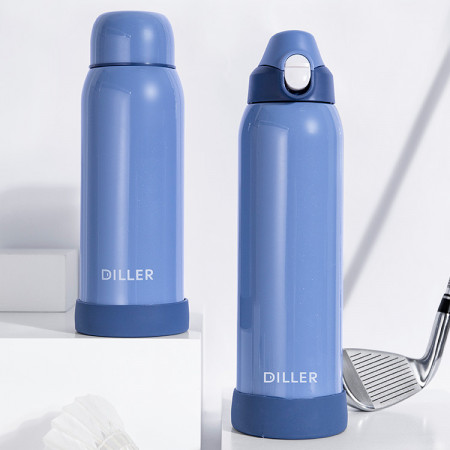 Termos inox cu pereti dubli 1000ml albastru Diller
