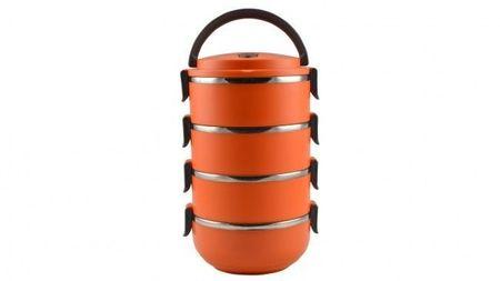 Sufertas inox 4 cuve portocaliu