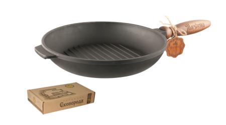 Tigaie grill cu mâner detașabil din fontă 24 cm