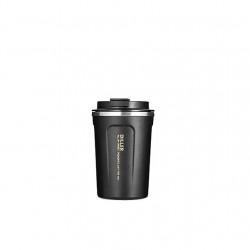 Cana de cafea portabila din otel inoxidabil 350ml negru