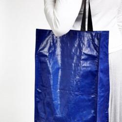 Sacosa-carucior pliabila cu roti pentru cumparaturi 60 x 35 x 17cm albastru
