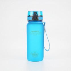 Sticla apa Uzspace Tritan, fara BPA cu capac 650ml albastru