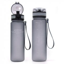 Sticla apa Uzspace Tritan fara BPA cu capac 650ml gri