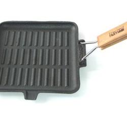 Tigaie grill fonta cu coada 24*24cm