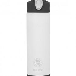 Sticla apa Tritan, fara BPA cu capac 850ml alb/transparent