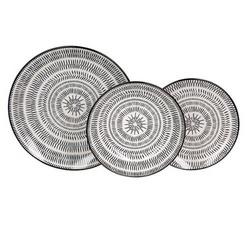 Set serviciu masa portelan 18buc Pleiadi alb-negru