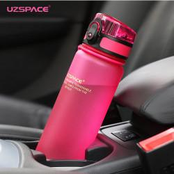 Sticla apa Uzspace Tritan fara BPA cu capac 1000ml roz