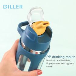 Sticla apa Diller cu capac 600ml albastru