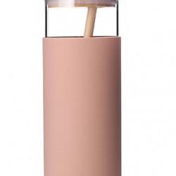 Sticla apa Diller cu capac bambusz 380ml mov