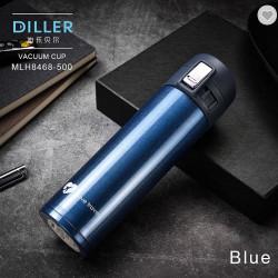 Termos inoxidabil cu pereti dubli 500ml albastru Diller