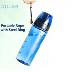 Sticla apa Tritan, fara BPA cu capac 700ml Albastru, Diller