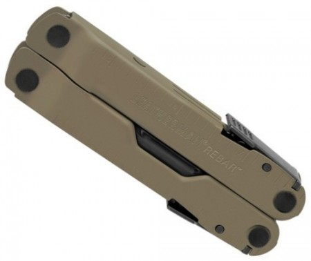 Poze CLESTE MULTIFUNCTIONAL LEATHERMAN REBAR® COYOTE TAN LIMITED + HUSA, 17 FUNCTII, LAMA 7.36CM