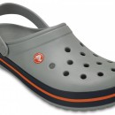 Papuci Crocs Crocband Light Grey / Navy - marimea 38-39