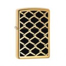 Bricheta Zippo Fence Design High Polish Brass - 28675