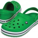 Papuci Crocs Crocband Green / White