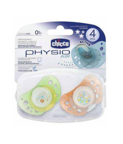 Chicco varalica Physio Air od silikona 4m+ 2 komada u kutiji svetleća ( 7130126 )