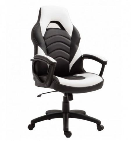 Slika Gejmerska stolica 2326 od eko kože Crno-bela