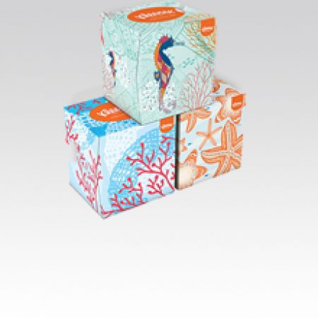 Slika Kleenex Cube collection papirne maramice,kutija 56 kom ( 2960000 )