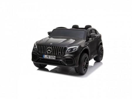 Slika Mercedes Licencirani Dvosed 4x4 model 311/1 sa kožnim sedištima i mekim gumama - Crni