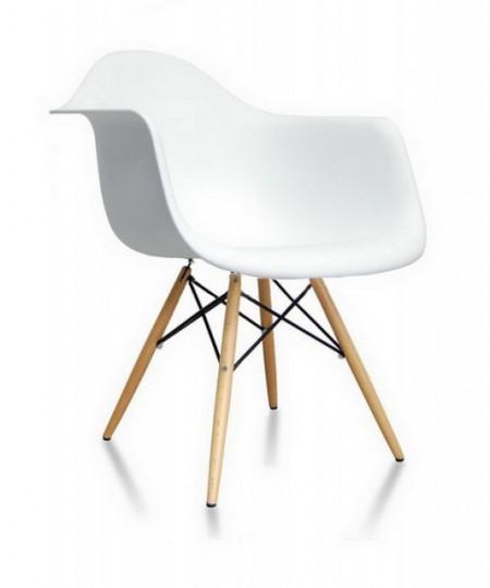 Slika Plastična trpezarijska stolica SEM - Bela