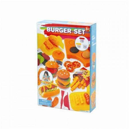 Slika PlayGo plastelin set izrada hamburgera ( 01250171 )