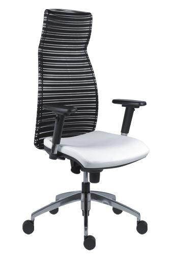 Slika Radna fotelja - 1970 SYN MARILYN ALU (mreža + eko koža u više boja)