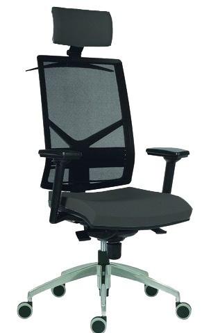 Slika Radna stolica - 1850 Omnia Pdh Alu - (mreža + eko koža u više boja)