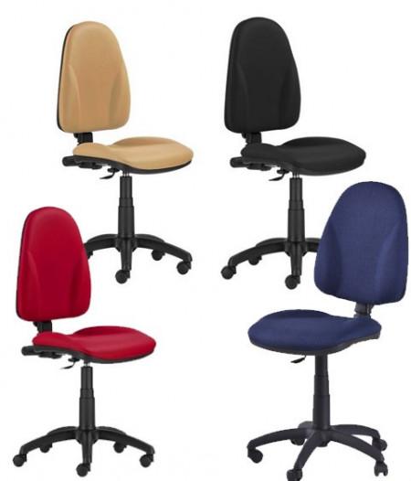 Slika Radna stolica - Bravo - ergonomsko sedište i naslon (štof u više boja)