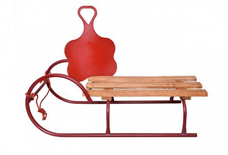Sanke za decu metal-drvo crveni ram + POKLON Klisko