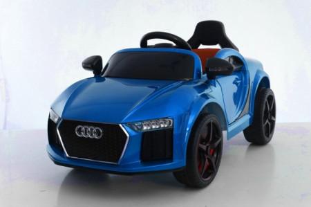 Slika Audi MIni Auto na akumulator sa kožnim sedištem i mekim gumama - Plavi