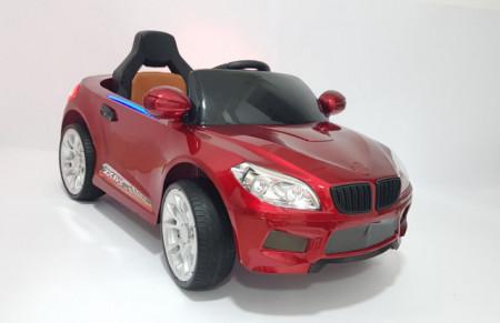 Slika BMW 2 Auto na akumulator sa kožnim sedištem i mekim gumama - Crveni