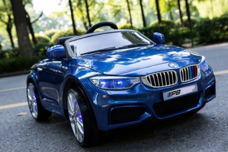 Slika BMW 8 Auto za decu na akumulator sa kožnim sedištima i mekim gumama - Plavi