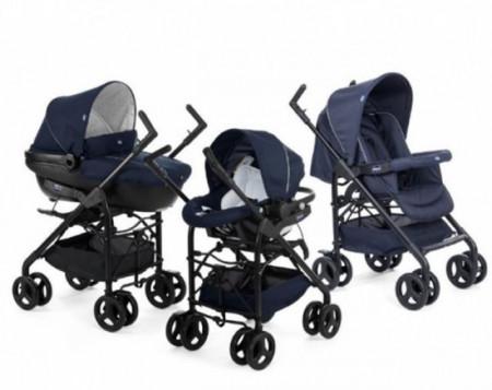 Chicco trio Sprint blue passion-plavi (kolica+autosedište+nosiljka) ( 5050104 )