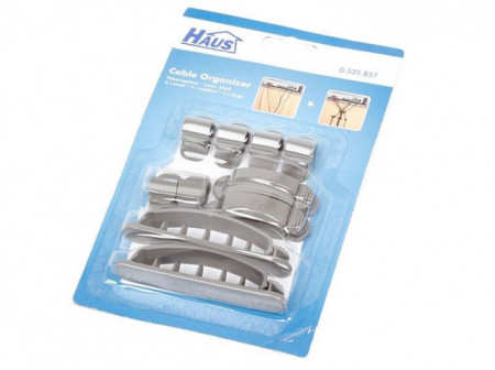 Slika Haus štipaljke za kablove sa šinom set 10 kom ( 0535857 )