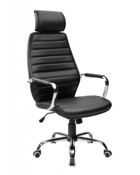 Slika Kancelarijska fotelja 9341H od eko kože - Crna