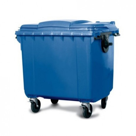 Slika Kontejner za otpatke 1100 litara - Ravan poklopac - Plavi