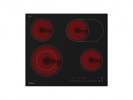 Slika Tesla staklokeramicka ploca HV6410MX,4 zone, 2 proširene,60cm,inox rub ( HV6410MX )