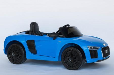 Slika Audi R8 Spyder Licencirani Auto na akumulator sa kožnim sedištem i mekim gumama - Plavi ( Audi R8-2 )