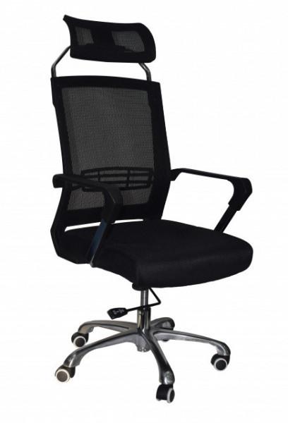Slika Kancelarijska stolica FA-6047 od mesh platna - Crna