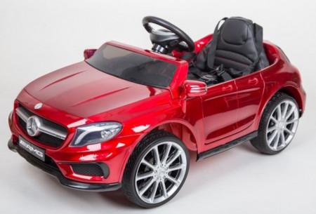 Slika Mercedes GLA 45 AMG Licencirani auto za decu na akumulator sa kožnim sedištem i mekim gumama - Crveni