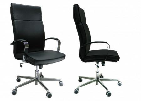 Slika Radna Fotelja visoka - Nero H lux (prava koža) - izbor boje kože