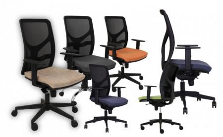 Slika Radna fotelja - Y10 (mreža + štof u više boja)