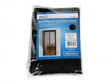 Slika Womax mreža za komarce za vrata magnet - crna ( 0316797 )